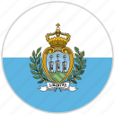 circular, country, flag, national, national flag, rounded, san marino