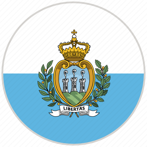 Circular, country, flag, national, national flag, rounded, san marino icon - Download on Iconfinder