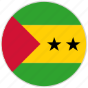 circular, country, flag, national, national flag, rounded, sao tome and principe