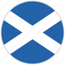circular, country, flag, national, national flag, rounded, scotland