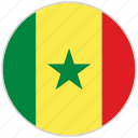 circular, country, flag, national, national flag, rounded, senegal