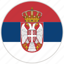 circular, country, flag, national, national flag, rounded, serbia
