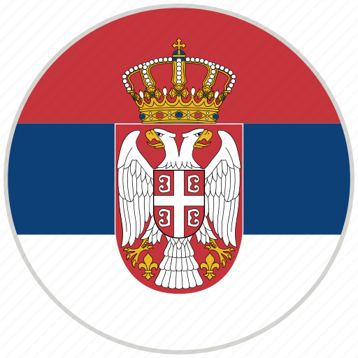 circular, country, flag, national, national flag, rounded, serbia icon