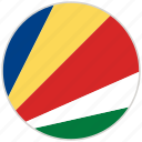 circular, country, flag, national, national flag, rounded, seychelles