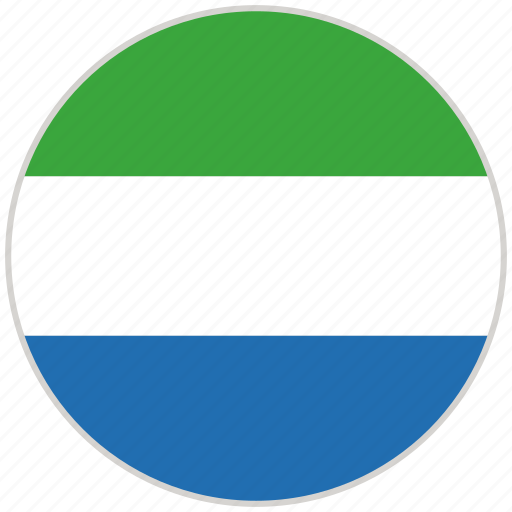 Circular, country, flag, national, national flag, rounded, sierra leone icon - Download on Iconfinder