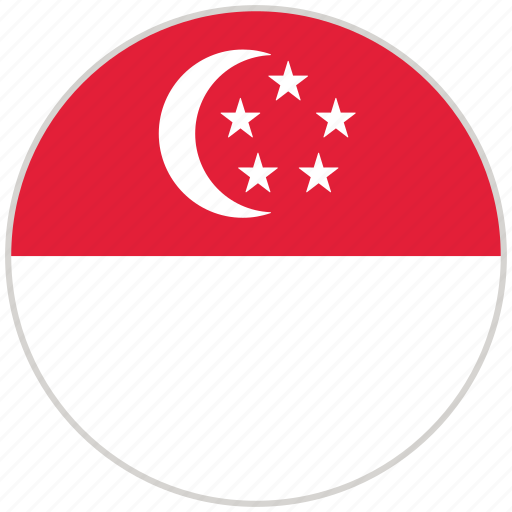 Circular, country, flag, national, national flag, rounded, singapore icon - Download on Iconfinder