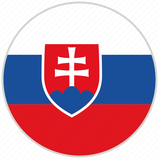 circular, country, flag, national, national flag, rounded, slovakia icon