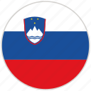 circular, country, flag, national, national flag, rounded, slovenia