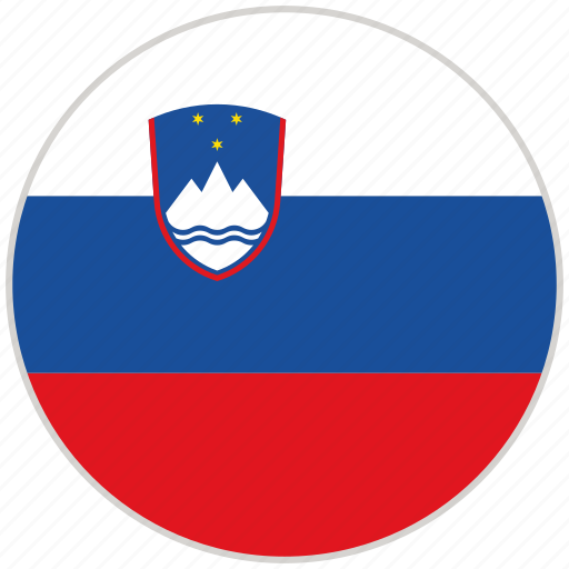 circular, country, flag, national, national flag, rounded, slovenia icon