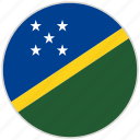 circular, country, flag, national, national flag, rounded, solomon islands
