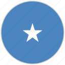 circular, country, flag, national, national flag, rounded, somalia