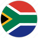 circular, country, flag, national, national flag, rounded, south africa