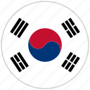 circular, country, flag, national, national flag, rounded, south korea