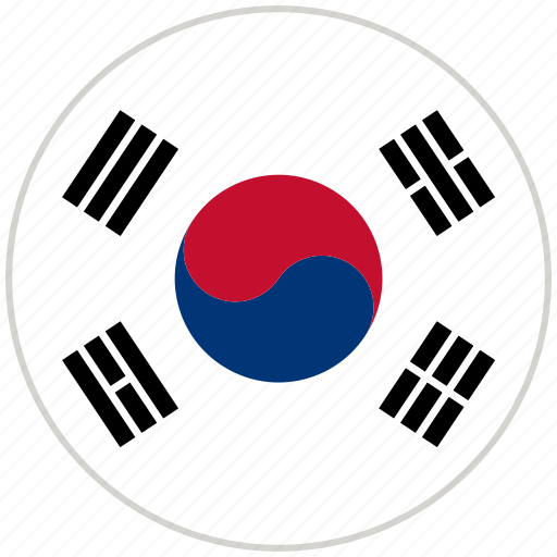 Circular, country, flag, national, national flag, rounded, south korea icon - Download on Iconfinder