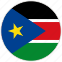circular, country, flag, national, national flag, rounded, south sudan