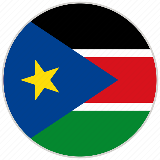 Circular, country, flag, national, national flag, rounded, south sudan icon - Download on Iconfinder