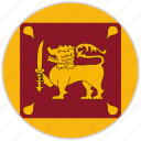 circular, country, flag, national, national flag, rounded, sri lanka