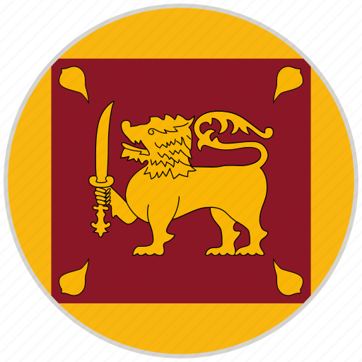 Circular, country, flag, national, national flag, rounded, sri lanka icon - Download on Iconfinder