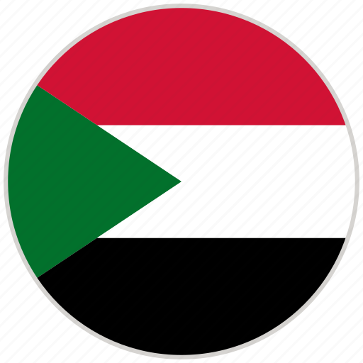 circular, country, flag, national, national flag, rounded, sudan icon