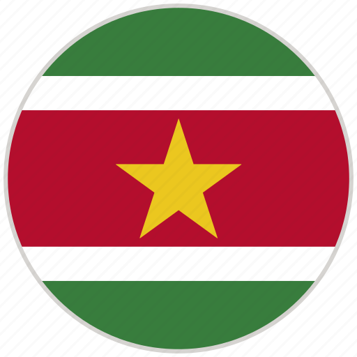 Circular, country, flag, national, national flag, rounded, suriname icon - Download on Iconfinder