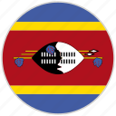 circular, country, flag, national, national flag, rounded, swaziland