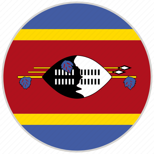 circular, country, flag, national, national flag, rounded, swaziland icon