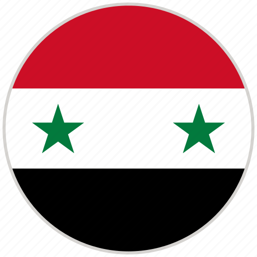 Circular, country, flag, national, national flag, rounded, syria icon - Download on Iconfinder