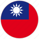 circular, country, flag, national, national flag, rounded, taiwan icon