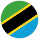 circular, country, flag, national, national flag, rounded, tanzania