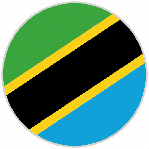 Circular, country, flag, national, national flag, rounded, tanzania icon - Download on Iconfinder