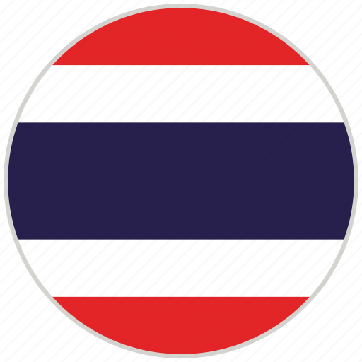 Circular, country, flag, national, national flag, rounded, thailand icon - Download on Iconfinder