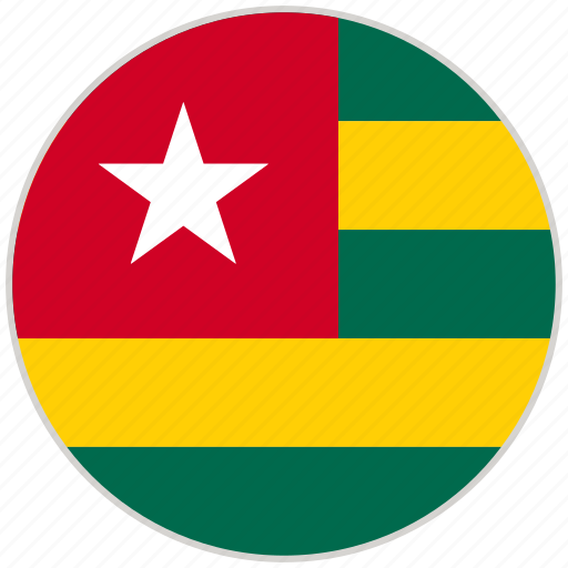 Circular, country, flag, national, national flag, rounded, togo icon - Download on Iconfinder