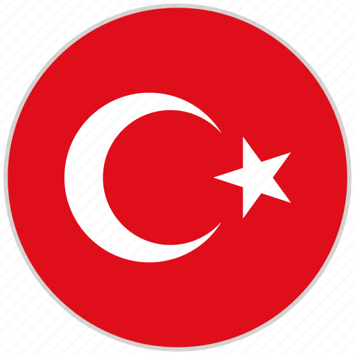 Circular, country, flag, national, national flag, rounded, turkey icon - Download on Iconfinder