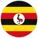 circular, country, flag, national, national flag, rounded, uganda
