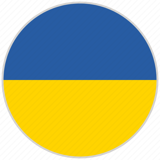 Circular, country, flag, national, national flag, rounded, ukraine icon - Download on Iconfinder
