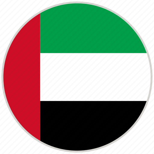 Circular, country, flag, national, national flag, rounded, united arab emirates icon - Download on Iconfinder