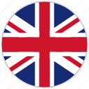 circular, country, flag, national, national flag, rounded, united kingdom