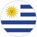 circular, country, flag, national, national flag, rounded, uruguay