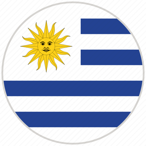 Circular, country, flag, national, national flag, rounded, uruguay icon - Download on Iconfinder