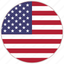 circular, country, flag, national, national flag, rounded, usa icon