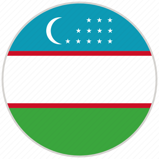 Circular, country, flag, national, national flag, rounded, uzbekistan icon - Download on Iconfinder