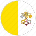 circular, country, flag, national, national flag, rounded, vatican city