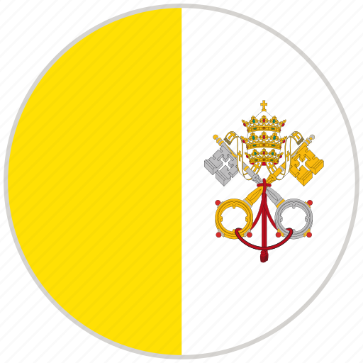 Circular, country, flag, national, national flag, rounded, vatican city icon - Download on Iconfinder