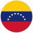 circular, country, flag, national, national flag, rounded, venezuela