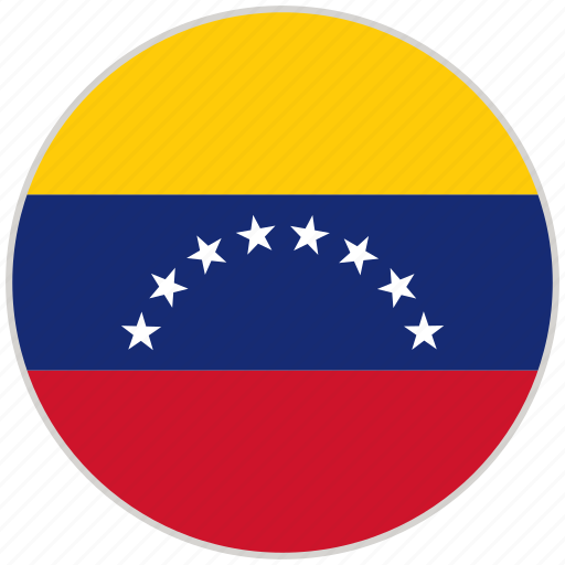 circular, country, flag, national, national flag, rounded, venezuela icon