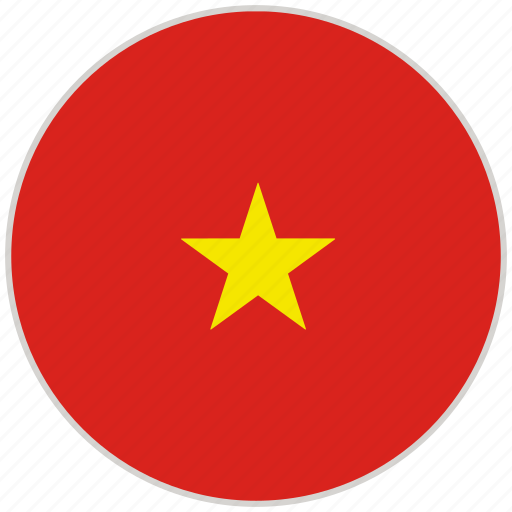 Circular, country, flag, national, national flag, rounded, vietnam icon - Download on Iconfinder