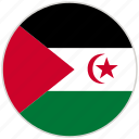 circular, country, flag, national, national flag, rounded, western sahara