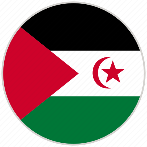 Circular, country, flag, national, national flag, rounded, western sahara icon - Download on Iconfinder