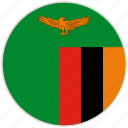 circular, country, flag, national, national flag, rounded, zambia