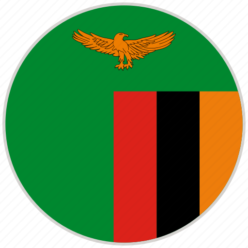 circular, country, flag, national, national flag, rounded, zambia icon